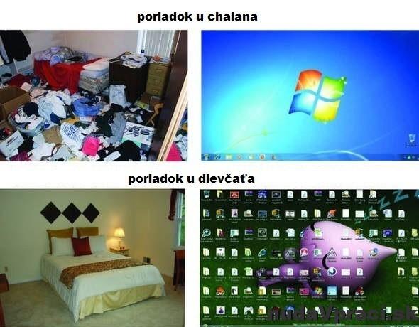 Poriadok v izbe a v počítači
