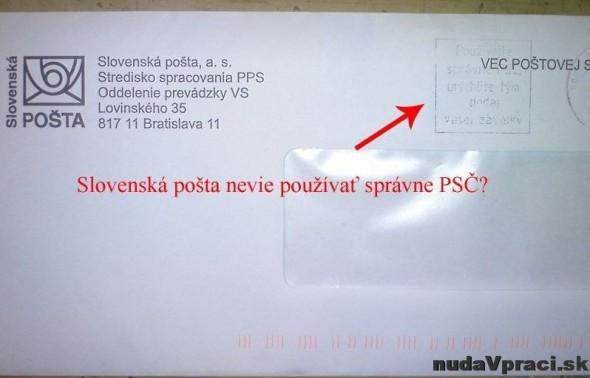 Slovenská pošta to nevie