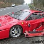 Rozbil Ferrari aby zachránil ježka