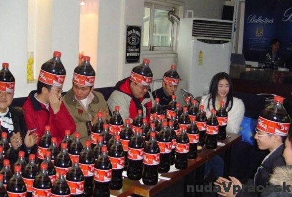 Coca cola večierok v Japonsku