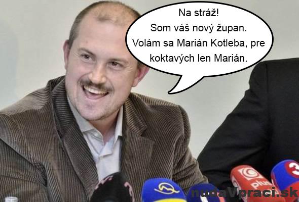 Nový župan Marián Kotleba