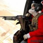 Americký Santa vezie darčeky