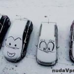 Veselé autá na parkovisku