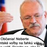 Gašparovič a blížiace sa prezidentské voľby