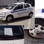 """Mestskí policajti dostali na auto """"botičku"""""""