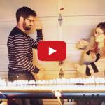 Vizualizácia dubstepu s ohnivou tubou