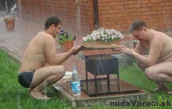 Ruské grilovanie v daždi