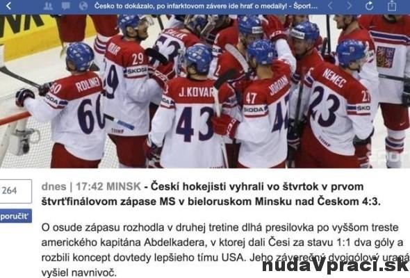 Česko to dokázalo Porazilo Česko