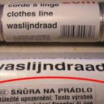 Šnúra na prádlo a dôležité upozornenie