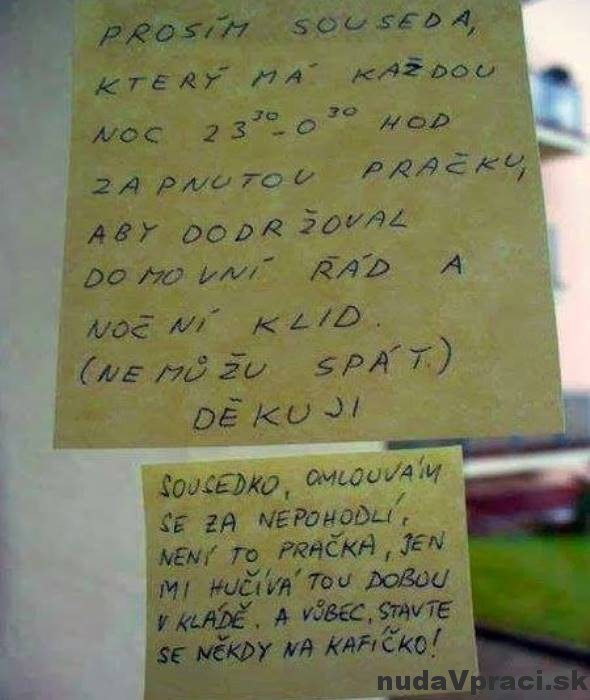 Odkaz pre hlučného suseda