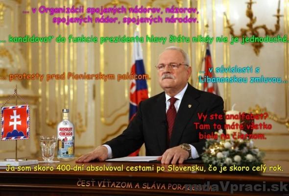 Ivan Gašparovič a jeho výroky