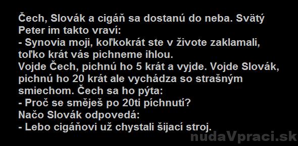 Čech, Slovák a cigáň v nebi