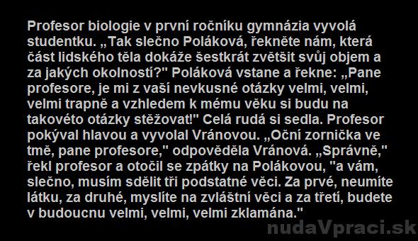 Profesor biológie na gymnáziu