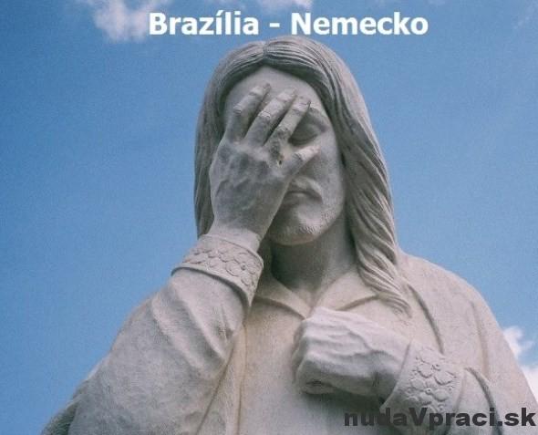 Socha Krista v Brazílii po ich prehre