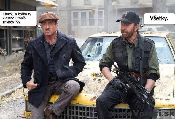 Sylvester Stallone a Chuck Norris