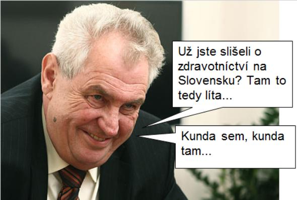 Miloš Zeman o zdravotníctve na Slovensku
