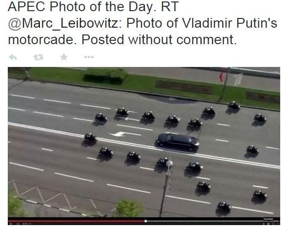 Veľavravný doprovod Putina
