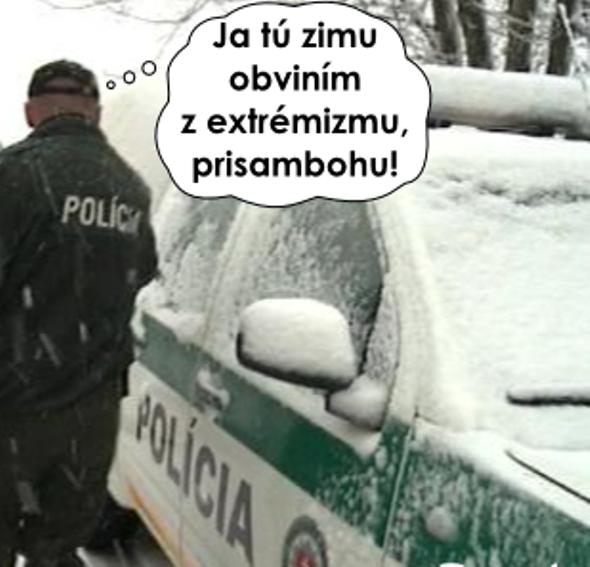 Polícia a zima
