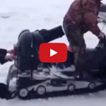 Muža v Rusku pohltil snežný skúter