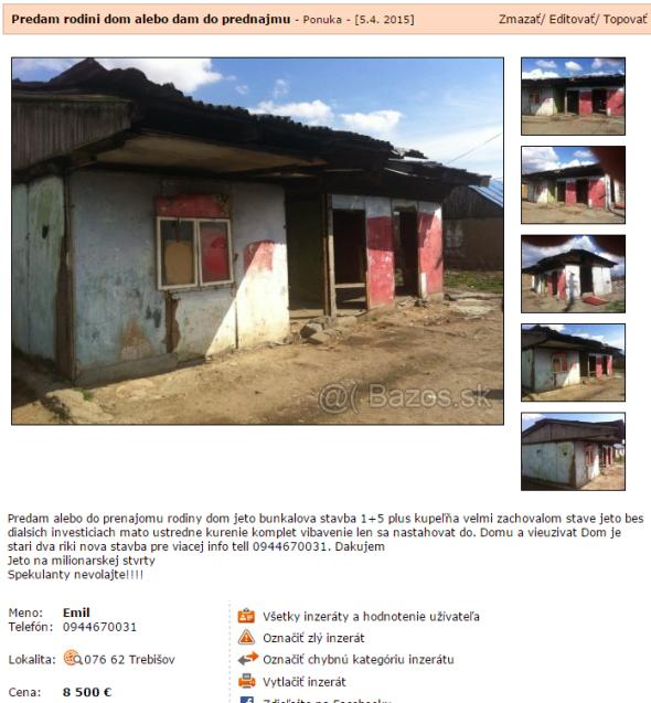 Na predaj dom bez ďalších investícií