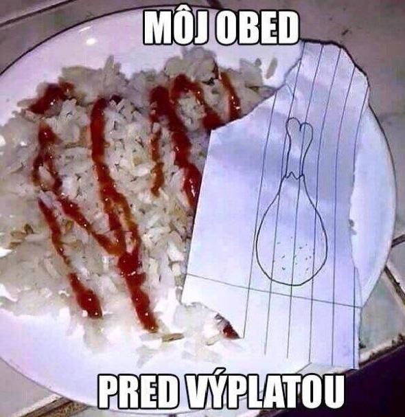 Môj obed...