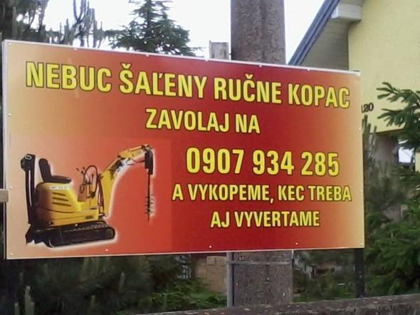 Originálna reklama na výkupové práce