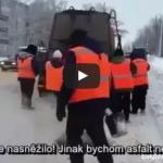 Toto je Rusko! Cesty tam asfaltujú celoročne