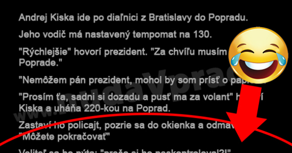Andrej Kiska ide po diaľnici 1