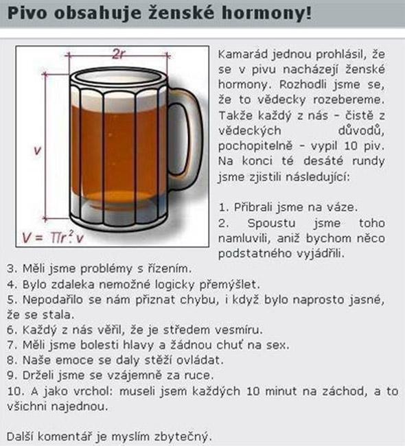 Dokázané! Pivo obsahuje ženské hormóny
