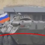 Fail! Ruské obrnené vozidlo prešlo vojaka