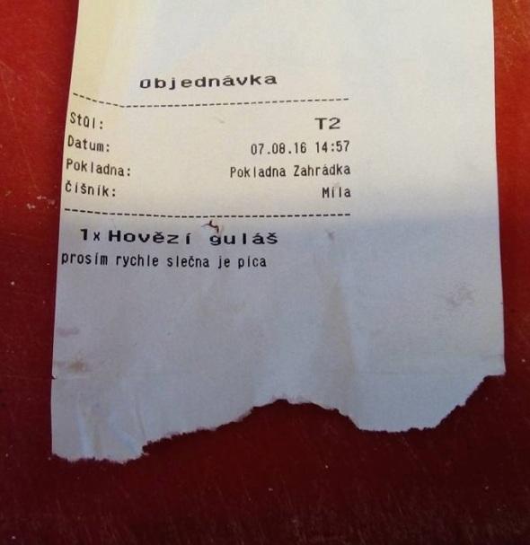 Objednávka s extra prosbou