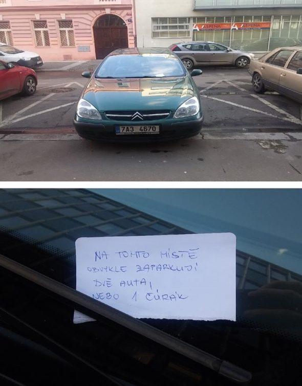 Odkaz na parkovisku