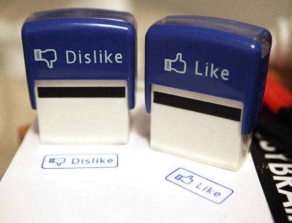 Sada pečiatok Facebook Like a Dislike