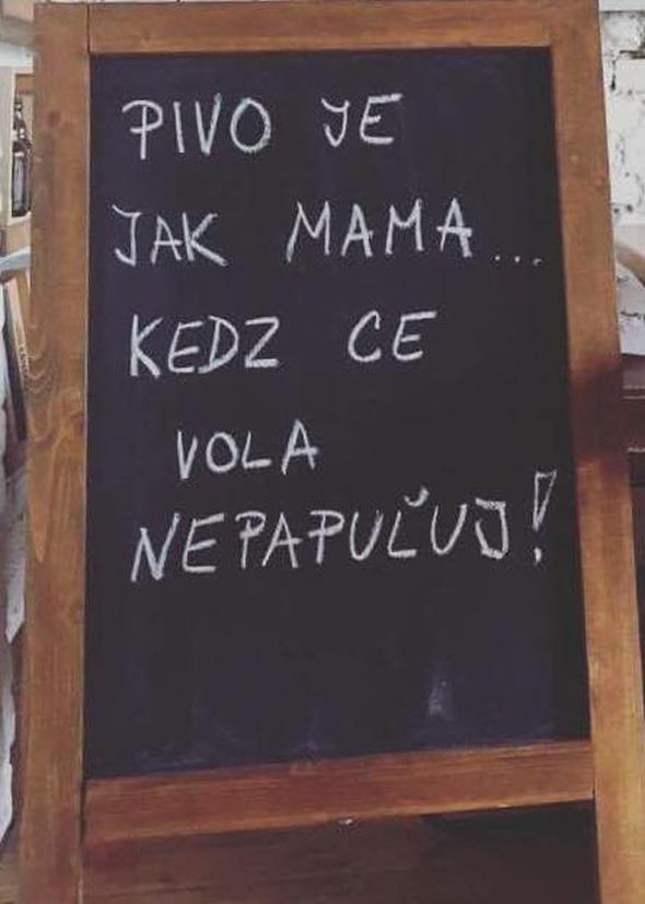 Pivo je ako mama